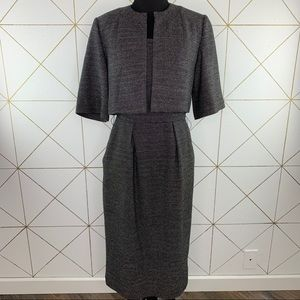 Calvin Klein Tweed Cropped Jacket and Dress Set